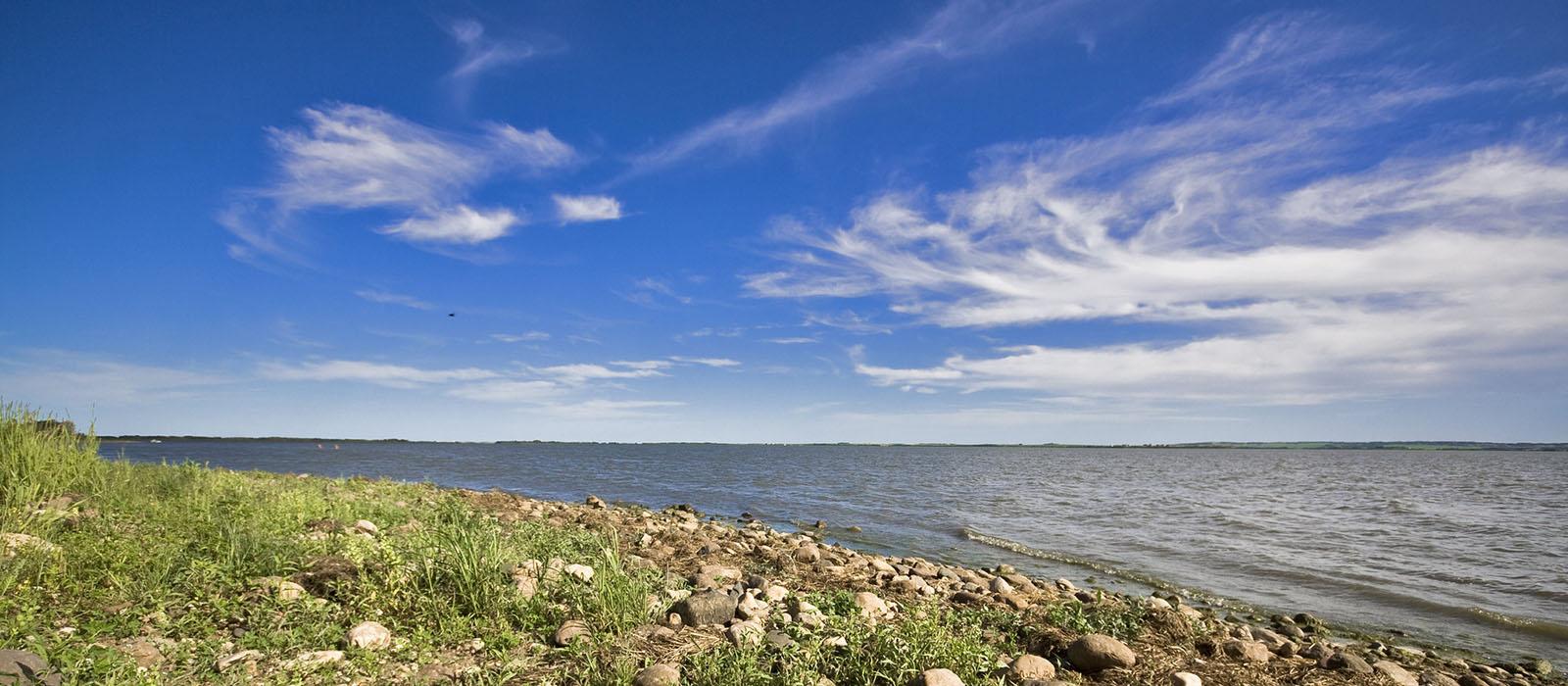 Bear Lake with blue sky