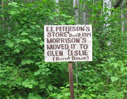 Old Bezanson Townsite Sign
